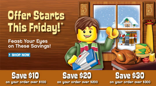 LEGO Shop Black Friday 2009 Deals (www.toysnbricks.com)