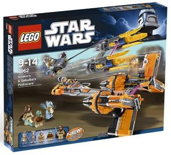 LEGO Star Wars 7962 Anakin's & Sebulba's Podracers - Toys N Bricks