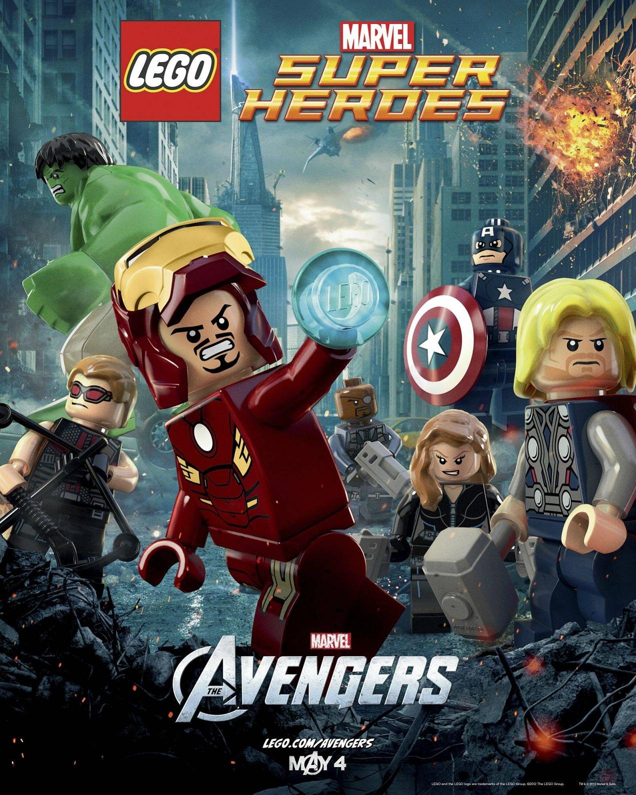 Lego avengers poster toysnbricks