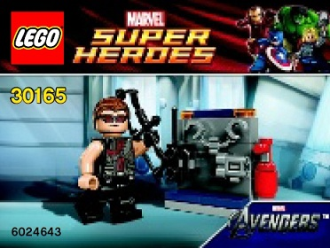 Lego superheroes 30165 hawkeye with equipment toysnbricks