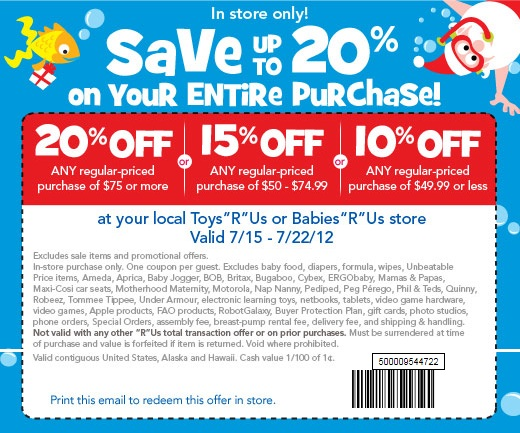 picture relating to Baby R Us Coupons Printable called Toys r us discount codes lego printable - American female on-line