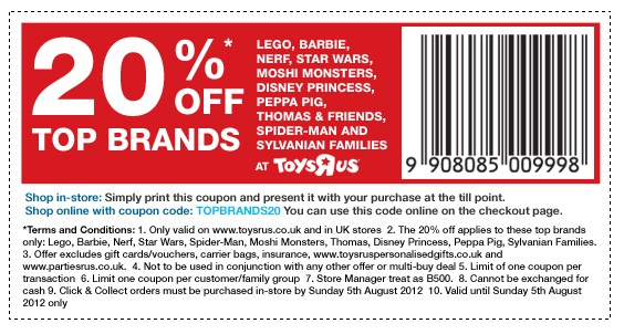 picture about Printable Toysrus Coupon titled Lego canada coupon : Lax world wide