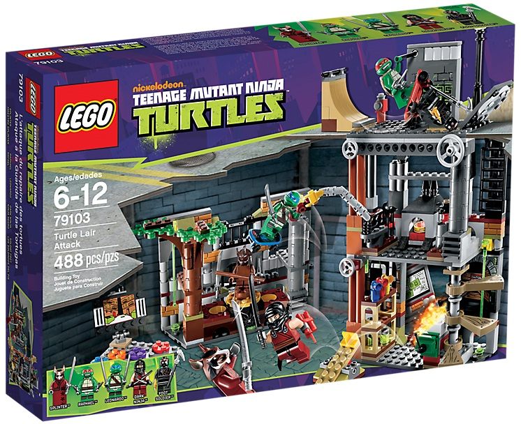 LEGO Teenage Mutant Ninja Turtles Turtle Lair Attack 79103 - Toysnbricks