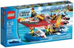 LEGO City Fire Boat 60005 - Toysnbricks