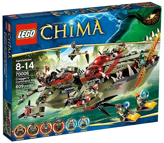 LEGO Legends of Chima Cragger's Command Ship 70006 - Toysnbricks