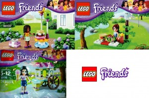 LEGO Friends 2013 Polybag Sets (30106 30107 30108)
