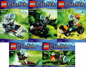 LEGO Legends of Chima 2013 Polybag Sets (30255 30254 30253 30252 30251)
