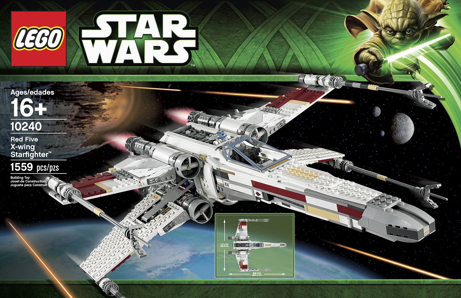 lego star wars exclusive 10240 ucs red five x wing. Black Bedroom Furniture Sets. Home Design Ideas