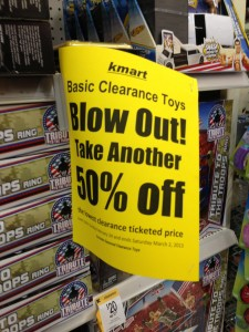 Kmart USA February 2013 LEGO Clearance Sale