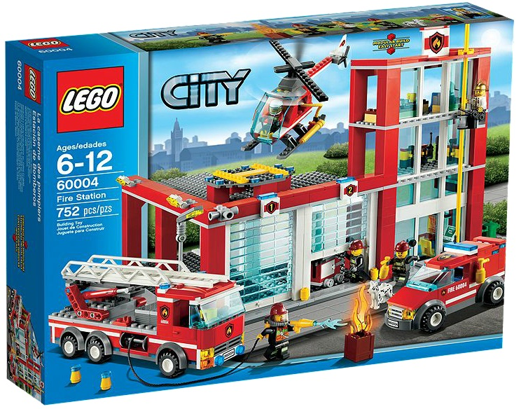 LEGO City 60004 Fire Station - Toysnbricks
