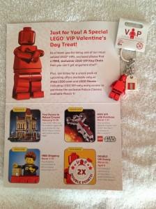 LEGO VIP Valentine's Minifigure Key Chain Gift 2013