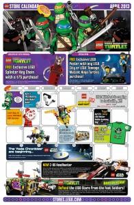 April 2013 LEGO Brand Store Calendar