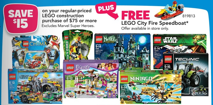 LEGO Sale March 2013 at ToysRUs America