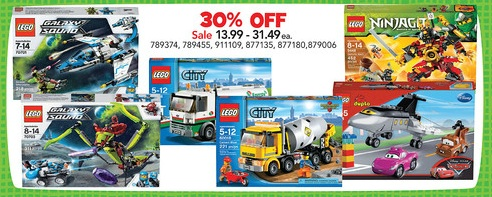LEGO Sale ToysRUs March 2013