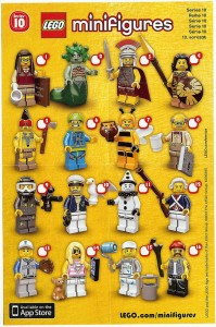 LEGO Series 10 Minifigures Collector Sheet Ad