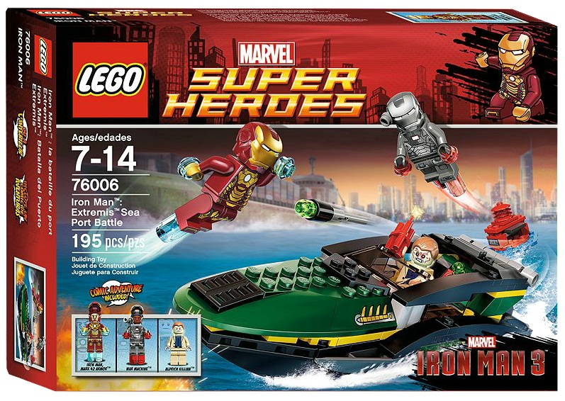 LEGO Superheroes 76006 Iron Man Extremis Sea Port Battle - Toysnbricks