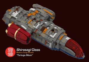 [MOC] Tortuga Moon modular smuggling ship