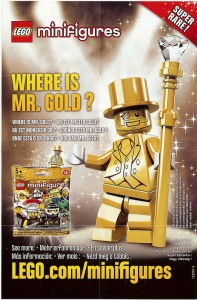 Mr.Gold LEGO Series 10 Minifigure Ad