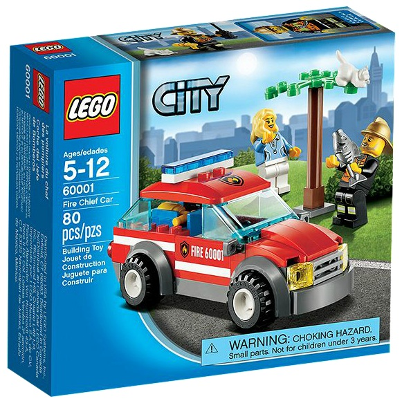 LEGO 60001 City Fire Chief Car - Toysnbricks