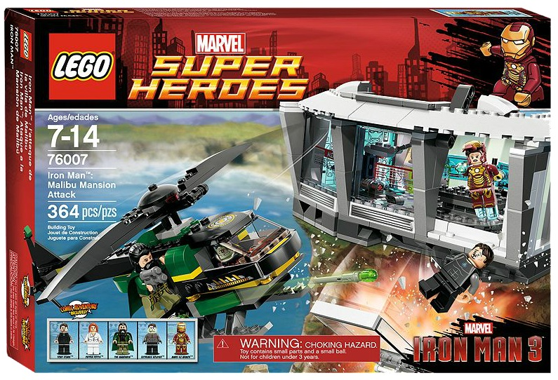 LEGO 76007 Superheroes Iron Man Malibu Mansion Attack - Toysnbricks