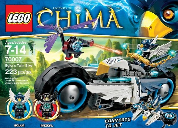 LEGO Legends of Chima 70007 Eglor's Twin Bike - Toysnbricks