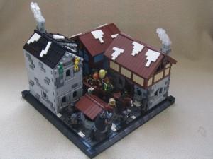 [MOC] Captured! (Medieval town scene)