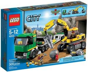 LEGO 4203 City Excavator Transport - Toysnbricks