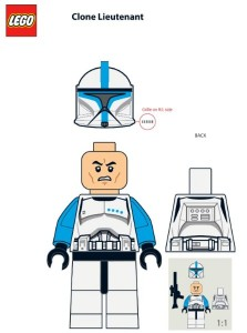 LEGO 5001709 Star Wars Clone Trooper Lieutenant Minifigure