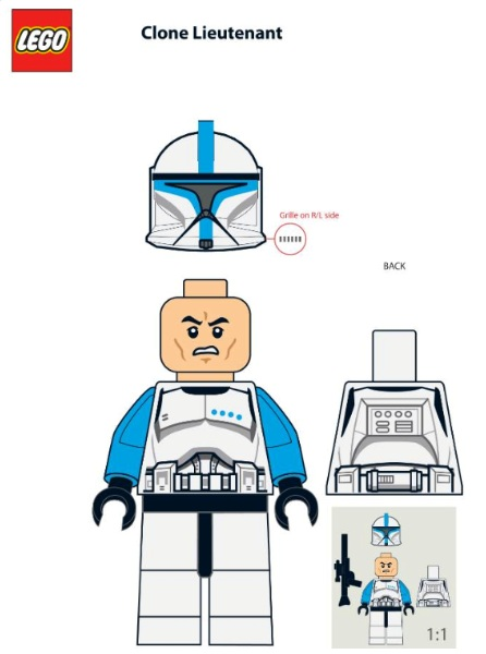 lego 5001709 star wars clone trooper lieutenant minifigure - Lego Clone Trooper Coloring Pages