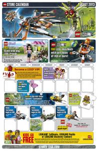 LEGO Store Calendar August 2013 - Toysnbricks