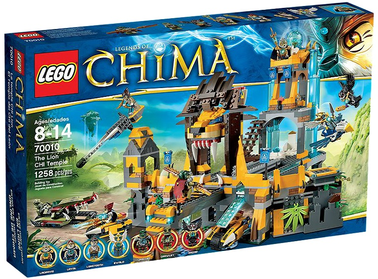 LEGO Legends of Chima 70010 The Lion CHI Temple - Toysnbricks