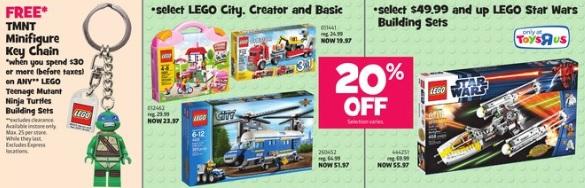 LEGO ToysRUs Canada August 2013 Sale
