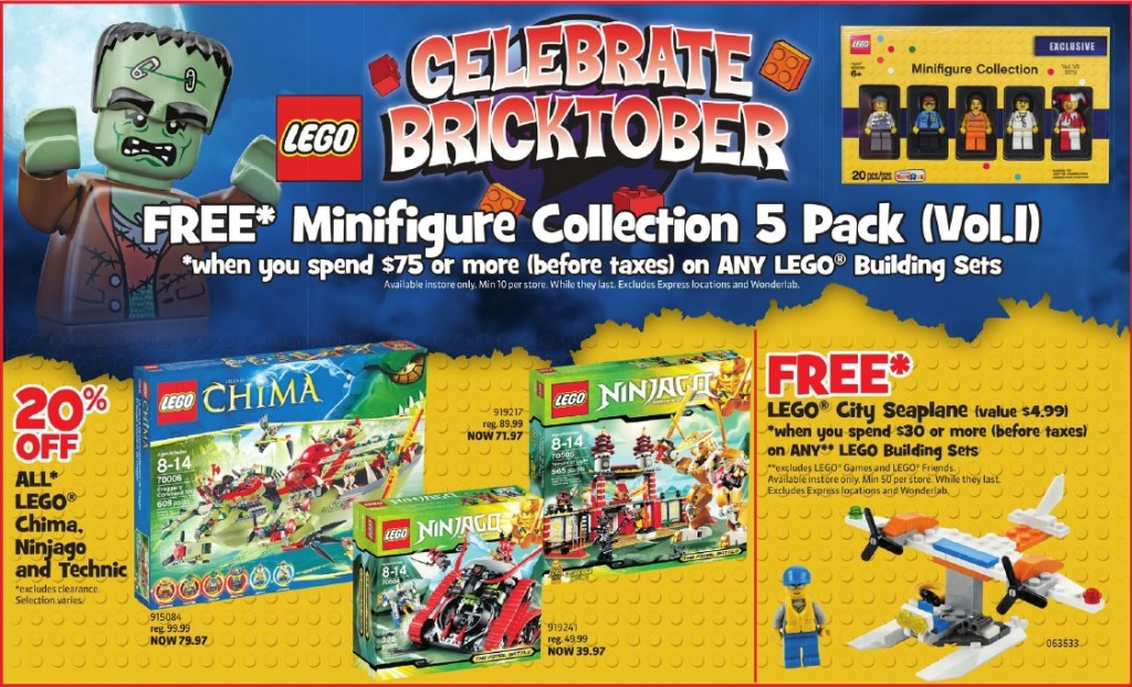 LEGO Bricktober 2013 Week 1 Sales and Deals at Toys R Us Canada