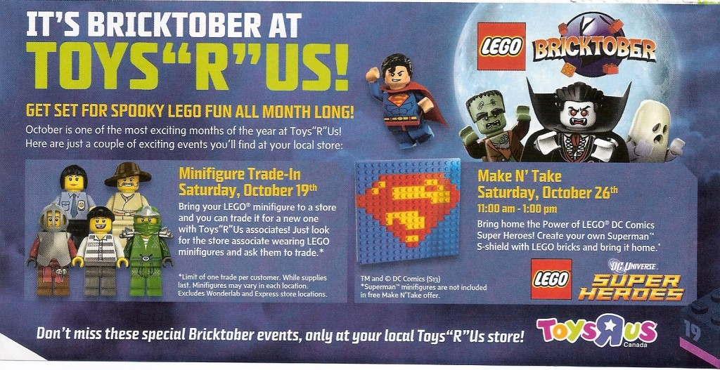 LEGO Bricktober 2013 at ToysRUs Canada