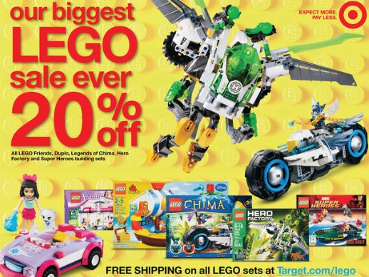 Target America LEGO September 2013 Sale