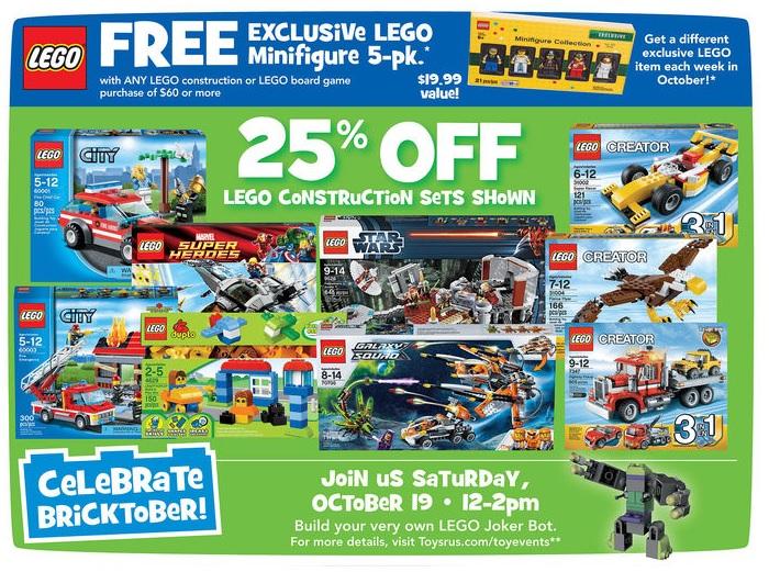 Bricktober 2013 Week 2 LEGO Sale at ToysRUs USA