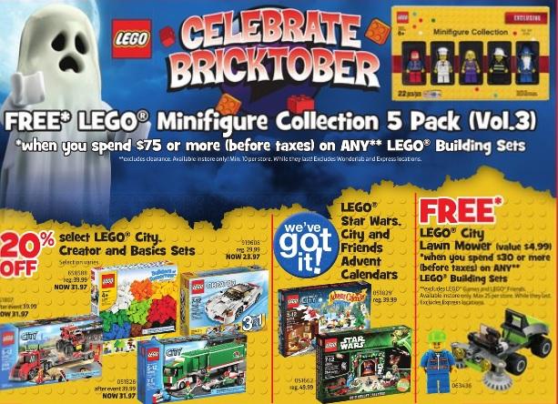 Bricktober 2013 Week 3 LEGO Sales & Promos Toys R Us Canada