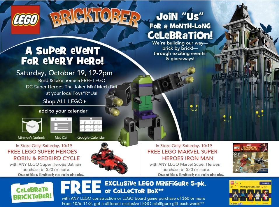 LEGO Bricktober 2013 USA Promotions & Events - Toysnbricks