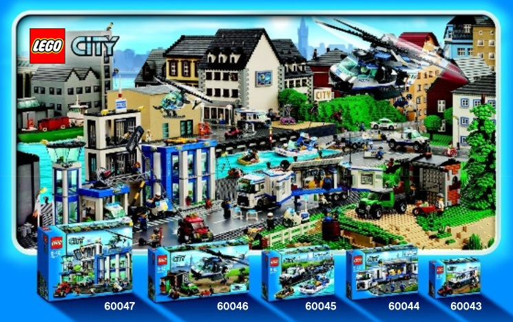 LEGO City 2014 Police Sets (60047 60046 60045 60044 60043)