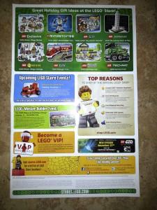 November 2013 LEGO Store Calendar (Back)