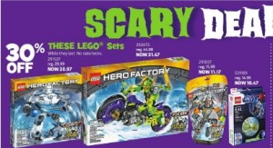 ToysRUs Canada LEGO October 2013 Sales