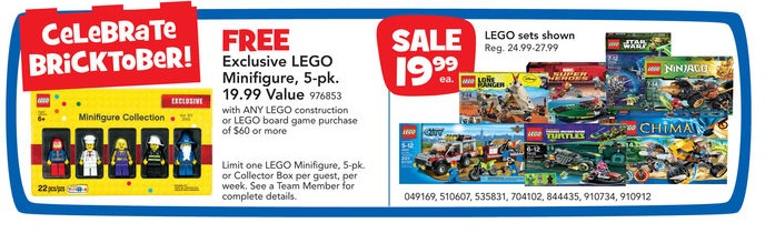 ToysRUs USA 2013 LEGO Bricktober Week 3 Sale