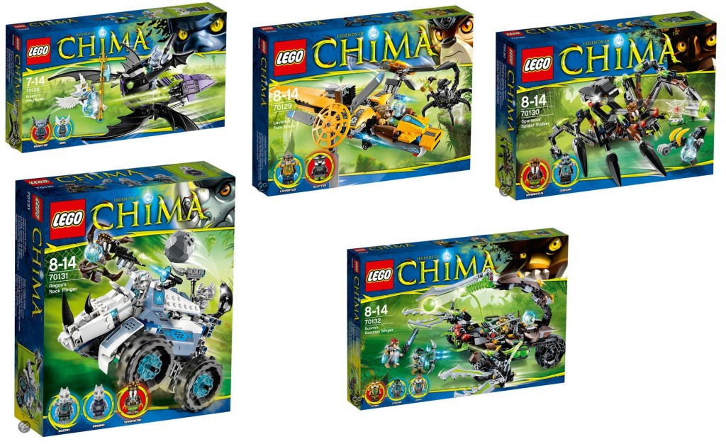 2014 LEGO Legends of Chima Sets (70128 70129 70130 70131 70132)