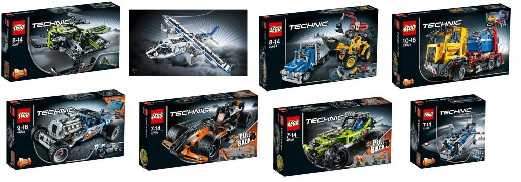 2014 LEGO Technic Sets (42021 42022 42023 42024 42025 42026 42027 42020) Pre