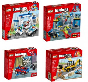 Juniors LEGO 10675 Police The Big Escape,  10672 Batman Defend the Batcave, 10665 Spider-Man Spider-Car Pursuit, 10666 Digger - Toysnbricks