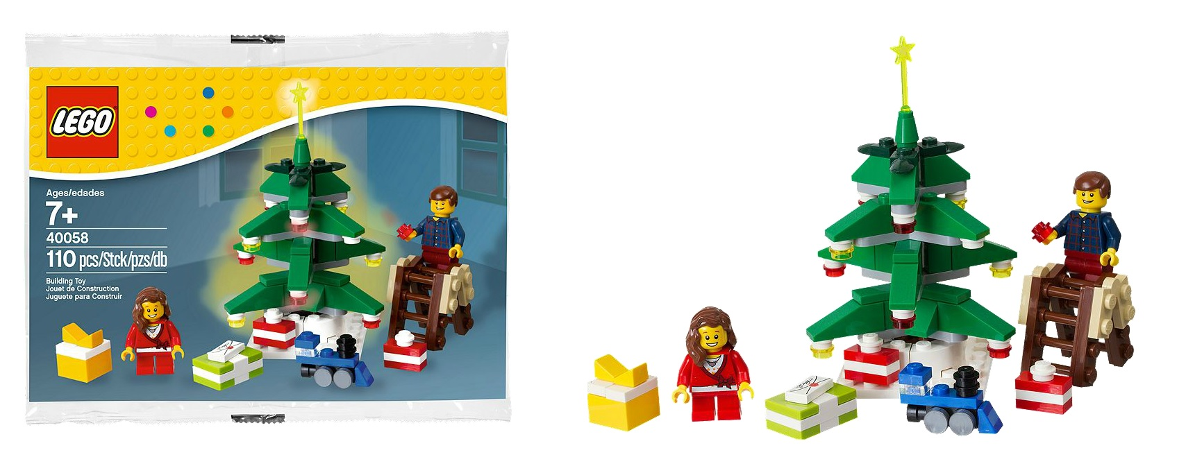 Lego decorating the tree ideas lentine marine 37817 for Decoration lego