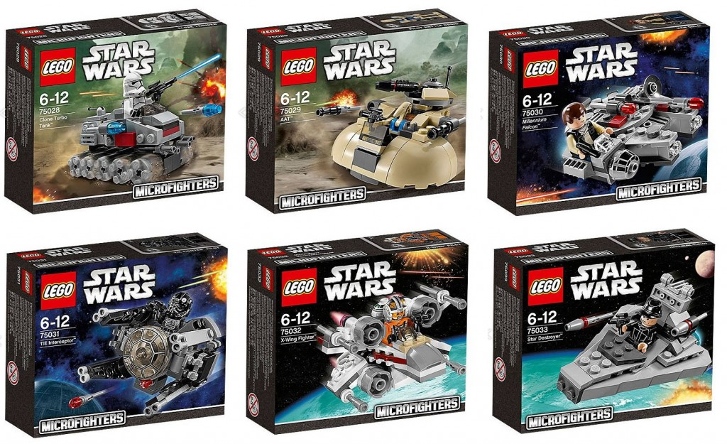 LEGO Star Wars Microfighters 75028 75029 75030 75031 75032 75033