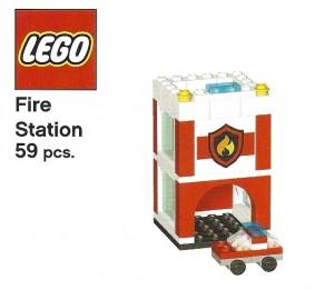 Mini LEGO City Fire Station (October 2013 Pottery Barn Kids)