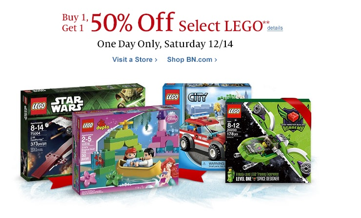 December LEGO BOGO Sale at Barnes & Nobles