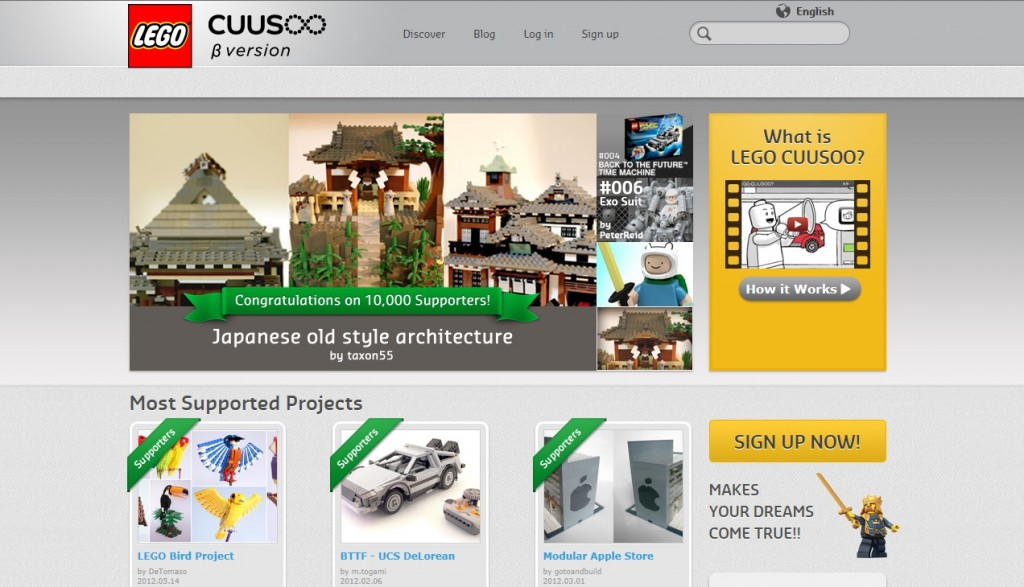 LEGO Cuusoo Website December 2013
